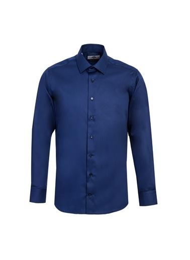 Kiğılı Uzun Kol Non Iron Slim Fit Gömlek Lacivert
